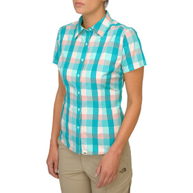 The North Face Boulder Penelope Woven t-shirt Dames turquoise